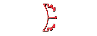 AIRSOFT MASTERPIECE ALUMINUM PUZZLE FRONT CURVE LONG TRIGGER (RED)