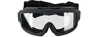 LANCER TACTICAL AERO PROTECTIVE BLACK AIRSOFT GOGGLES (CLEAR LENS)