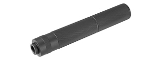 Lancer Tactical 195mm Aluminum Knurled Mock Suppressor (Black)
