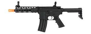 "GOLDEN EAGLE F6637 ELITE SERIES 7"" KEYMOD CQB AEG AIRSOFT RIFLE (BLACK)"