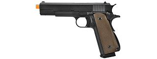 WE Tech 1911 High Capacity Full Metal Airsoft Gas Blowback Pistol (BLACK )