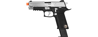 WE Tech P-Virus Two-Tone Gas Blowback Airsoft Pistol (BLACK/SILVER)