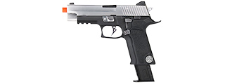 WE Tech Full Metal P-Virus Two-Tone Gas Blowback Airsoft Pistol (BLACK/SILVER)