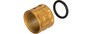 Atlas Custom Works Knurled Thread Protector [14mm CCW] (GOLD)