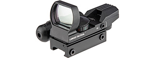 Lancer Tactical 4-Reticle Red/Green Dot Reflect Sight w/ Laser (Black)