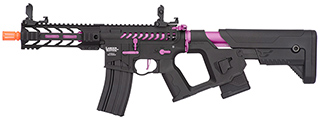 "Lancer Tactical Enforcer BATTLE HAWK 7"" Skeleton AEG [HIGH FPS] w/ Alpha Stock (BLACK/PURPLE)"