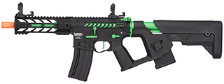 "Lancer Tactical Enforcer BATTLE HAWK 7"" Skeleton AEG [HIGH FPS] w/ Alpha Stock (BLACK/GREEN)"