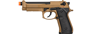 Double Bell M92 Gas Blowback Airsoft Pistol (TAN)