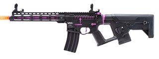 Lancer Tactical [Low FPS] Enforcer Blackbird Skeleton AEG w/ Alpha Stock (Color: Black and Purple)