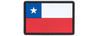 Chile Flag PVC Patch (Color: Red / Blue / White)