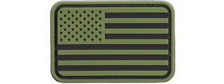 US Flag PVC Patch (Color: OD Green / Black)